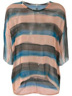 полосатая прозрачная футболка  Raquel Allegra