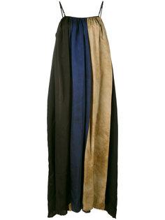длинное платье с полосатыми вставками Uma Wang