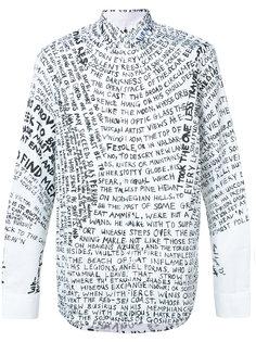 рубашка с принтом в виде надписей Oamc