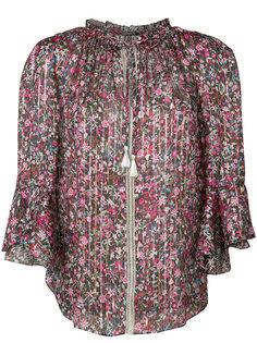 плиссированная блузка с цветочным узором Elie Tahari
