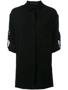 рубашка с заклепками на ремешках Alexandre Vauthier