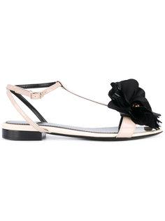 сандалии с цветочным украшением Lanvin