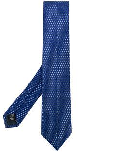 галстук с узором из точек Ermenegildo Zegna
