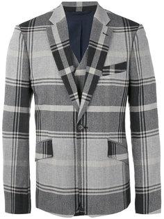 клетчатый пиджак с прямоугольными лацканами Vivienne Westwood