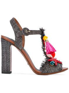 декорированные плетеные босоножки Dolce & Gabbana