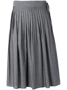 полосатая плиссированная юбка Vince