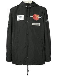 куртка-бомбер с нашивками Undercover