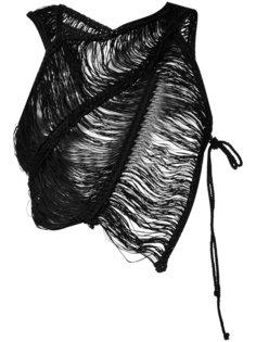 укороченный тканый топ Isabel Benenato