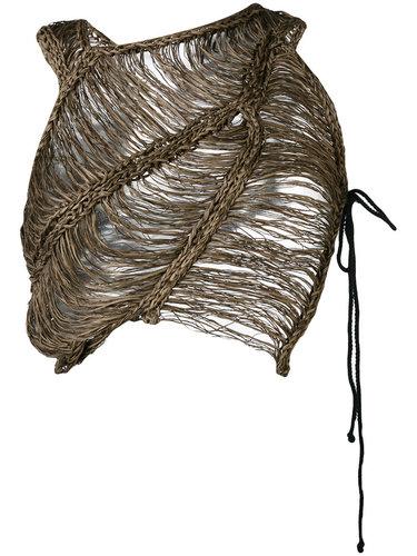 укороченный плетеный топ Isabel Benenato