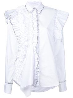 рубашка с асимметричной отделкой из рюшей Preen By Thornton Bregazzi
