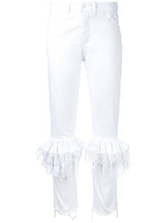 брюки скинни с рюшами Preen By Thornton Bregazzi