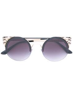 солнцезащитные очки с круглой оправой Bulgari