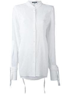 рубашка с завязками на рукавах Ann Demeulemeester