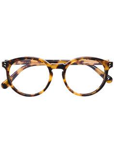 очки с узором черепашьего панциря  Stella Mccartney Eyewear