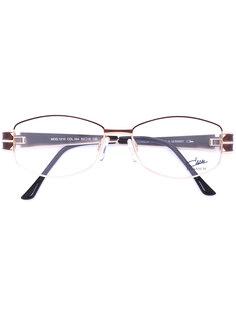 очки с эмалированной овальной оправой Cazal