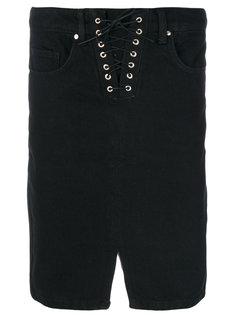 юбка-миди со шнуровкой  Zoe Karssen