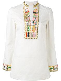 блузка с воротником-мандарин Tory Burch