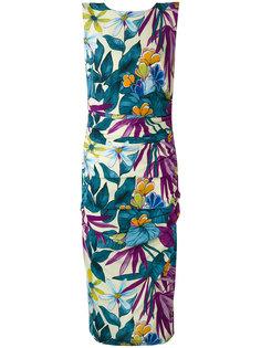 приталенное платье с цветочным принтом Eggs