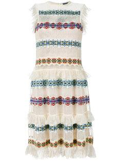 полупрозрачное платье с вышивкой Alexander McQueen