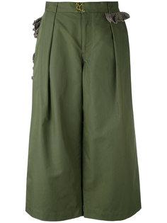 укороченные широкие брюки  Kolor