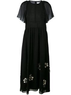 платье с цветочной аппликацией Chloé