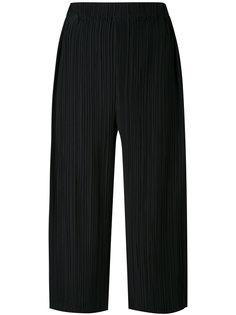 плиссированные укороченные брюки Jil Sander