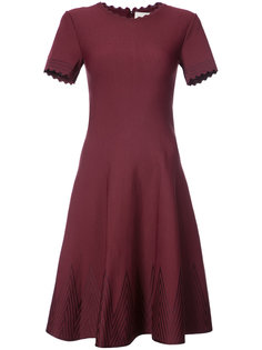 расклешенное платье  с фестонами Carolina Herrera