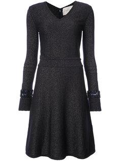 трикотажное платье с блестящей отделкой Carolina Herrera