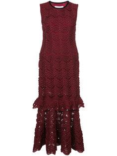 trumpet skirt lace dress Carolina Herrera