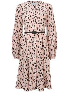 leopard print dress Carolina Herrera