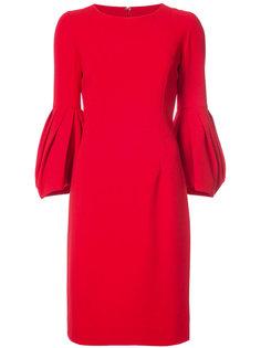 платье с плиссированными рукавами Carolina Herrera