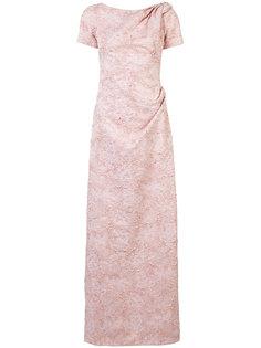 bead embellished gathered dress Carolina Herrera
