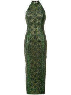 платье с орнаментом Balmain
