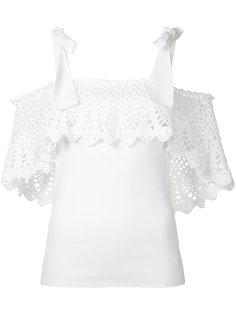 блузка с открытыми плечами  Irene