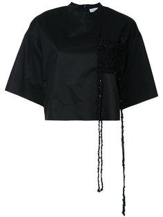 блузка с контрастным карманом Irene