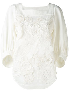 блузка с цветочной аппликацией  Chloé