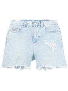 состаренные джинсовые шорты  Ck Jeans