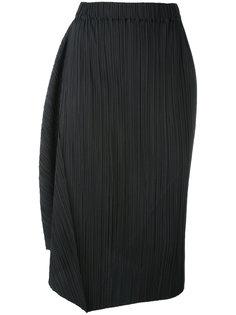 плиссированная юбка прямого кроя Jil Sander