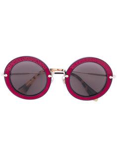 солнцезащитные очки с круглой оправой Miu Miu Eyewear