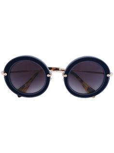 круглые солнцезащитные очки Noir Miu Miu Eyewear