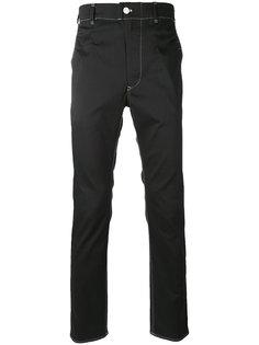 брюки с контрастной строчкой Julien David