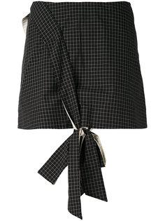 мини-юбка с декоративным узлом спереди Anna K