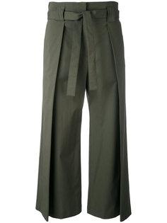 расклешенные брюки с завязками на поясе Fabiana Filippi