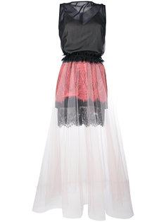 платье без рукавов из кружева и тюля Loyd/Ford