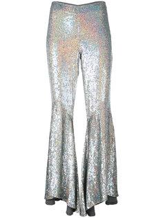 асимметричные расклешенные брюки с пайетками Ashish