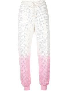 спортивные штаны с эффектом градиента Ashish