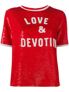 футболка с пайетками Love & Devotion  Ashish