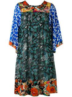 платье шифт с комбинированным принтом Duro Olowu