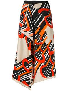 юбка-миди с запахом Carven