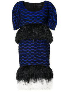 платье с оторочкой из перьев страуса Proenza Schouler